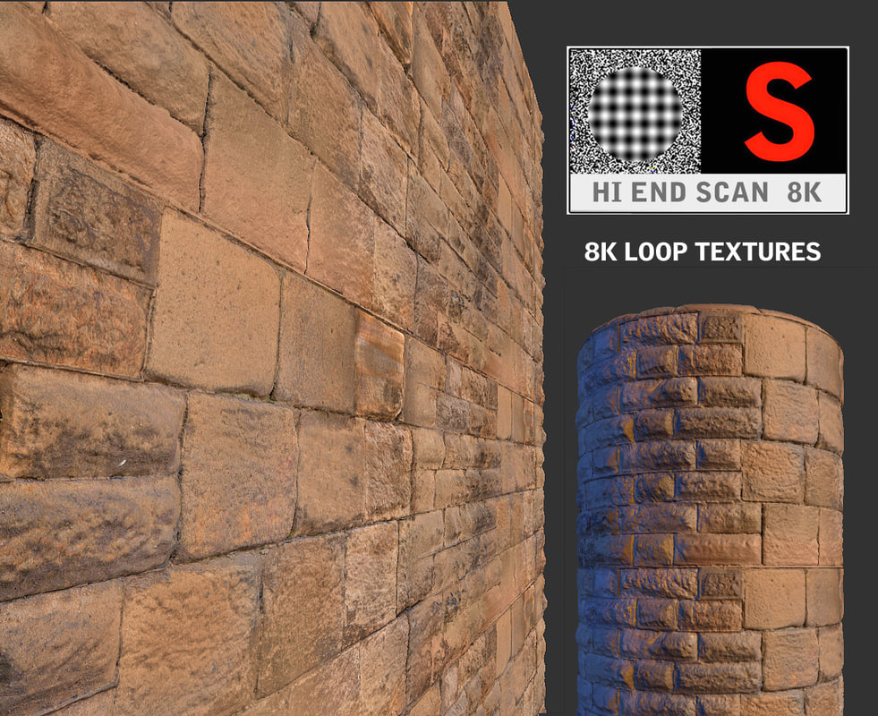 3d antic wall scan 8k model
