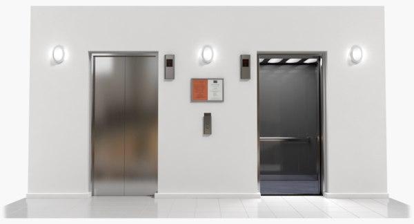 elevator buttons 3d fbx