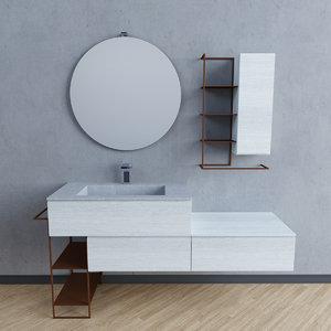 3d model bathroom set comp