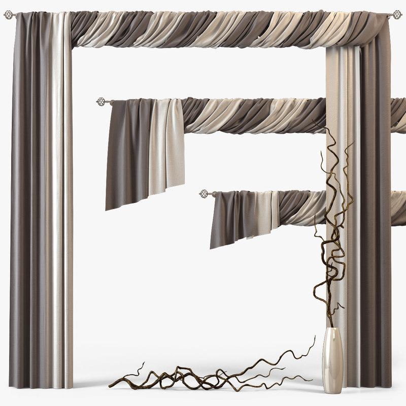3d obj curtains