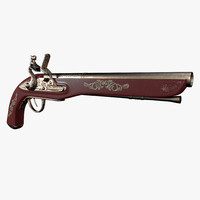 old musket 3d model