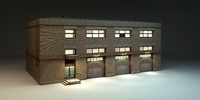 3d industrial garage building games model