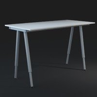 IKEA Writing Desk - HPoly and LPoly
