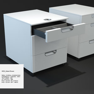 3ds max ikea galant drawer