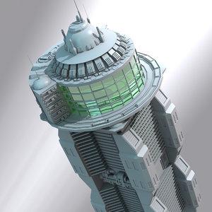 futuristic building science 3d lwo