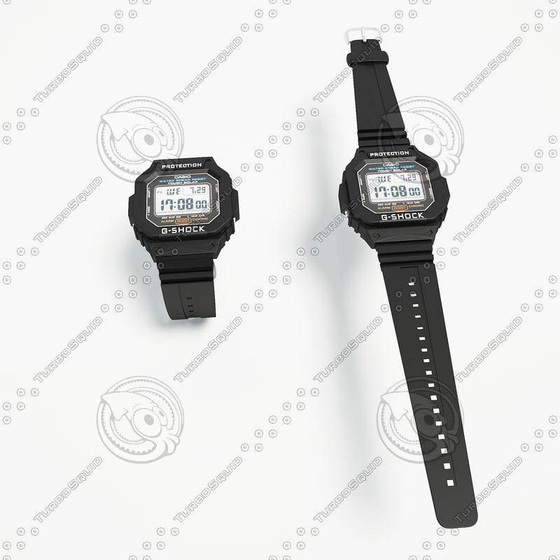 g-shock watch 3d model