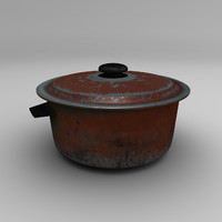 cooking pot 3d model