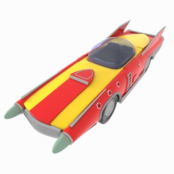 vintage space car 3d max