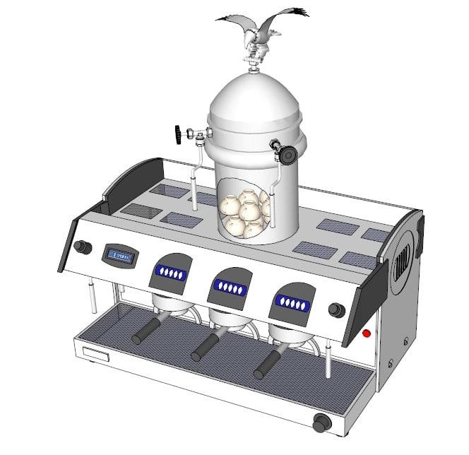 espresso capucino machine markus 3d model