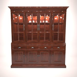 3d hutch cabinet