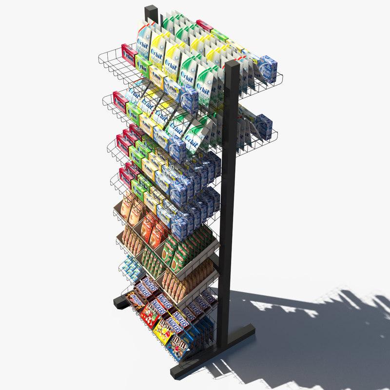 3d model rack v-ray