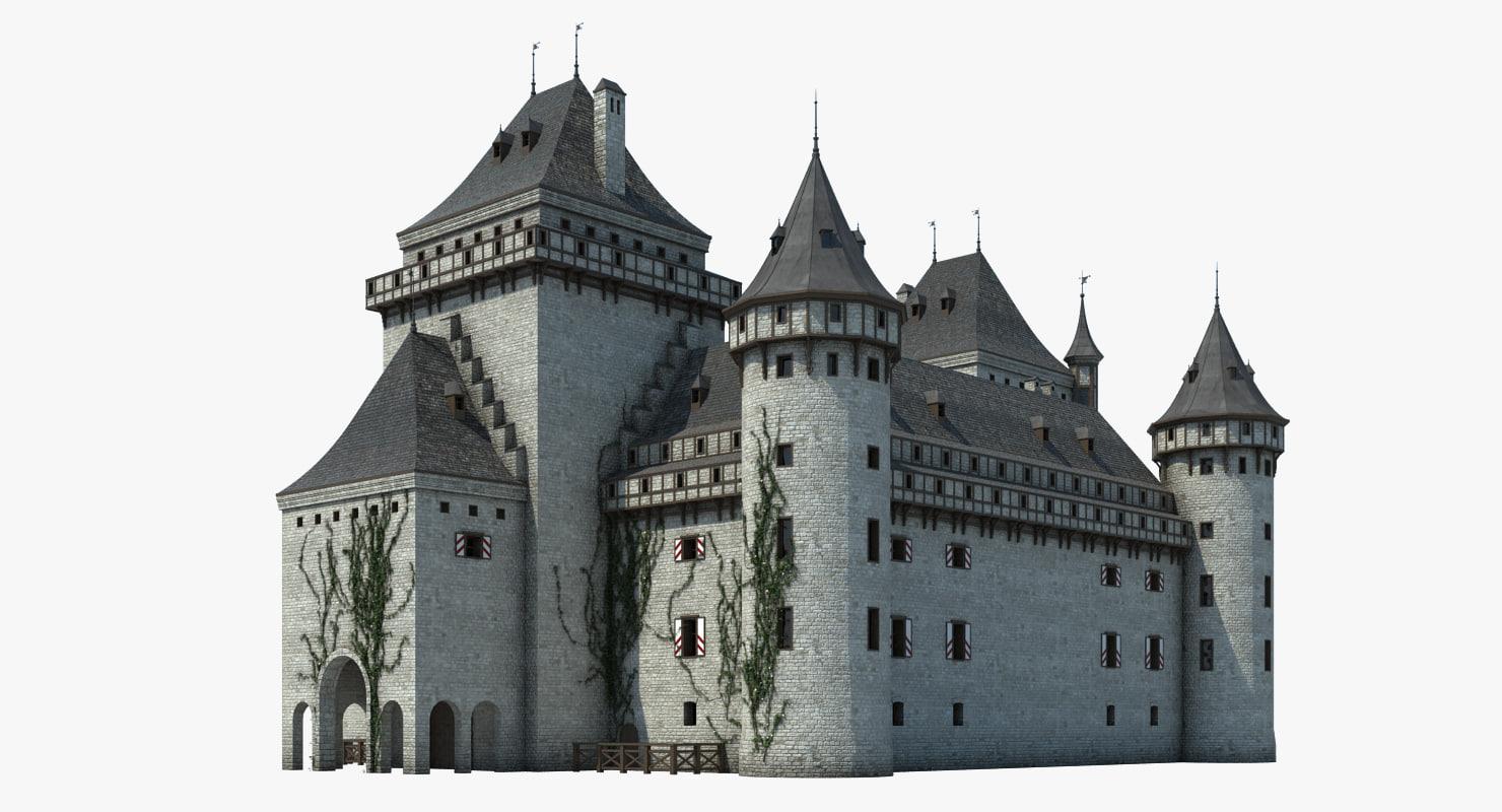castle landmark 3d model
