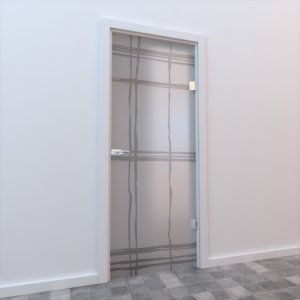 glass door 3d max