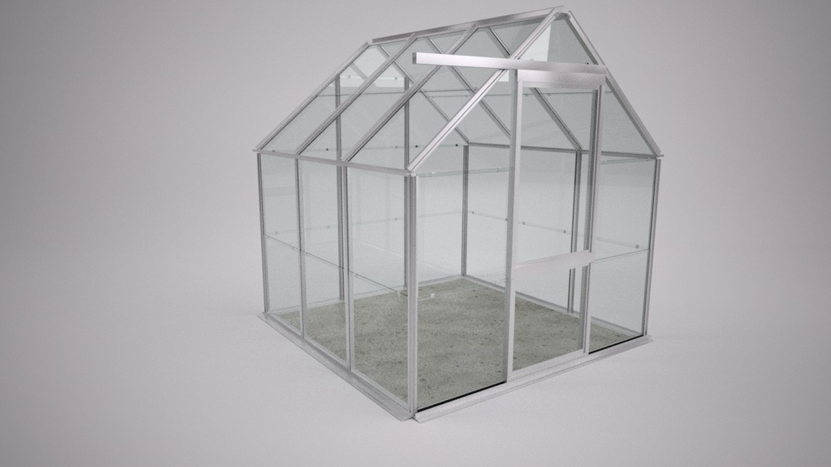 garden greenhouse green house 3d model