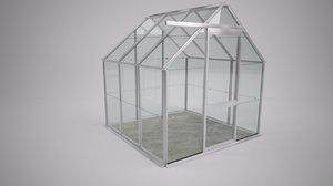 garden greenhouse green house 3d model