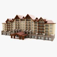 3d model resort hotel
