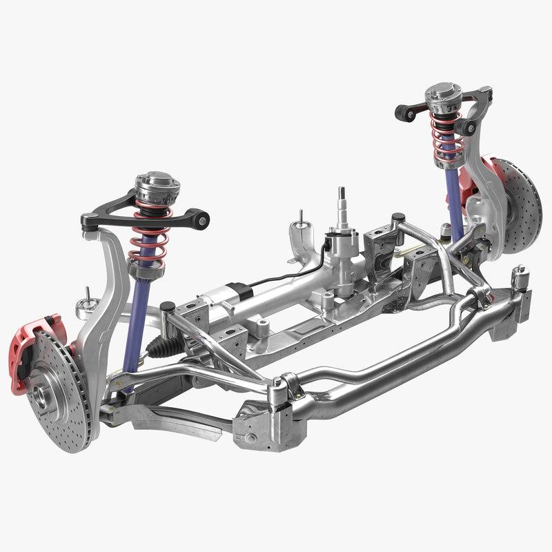 3ds max sedan suspension 2