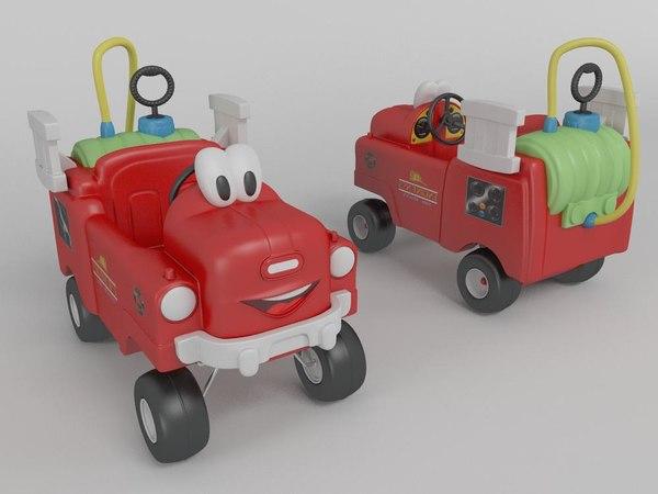 toy firetruck 3d model