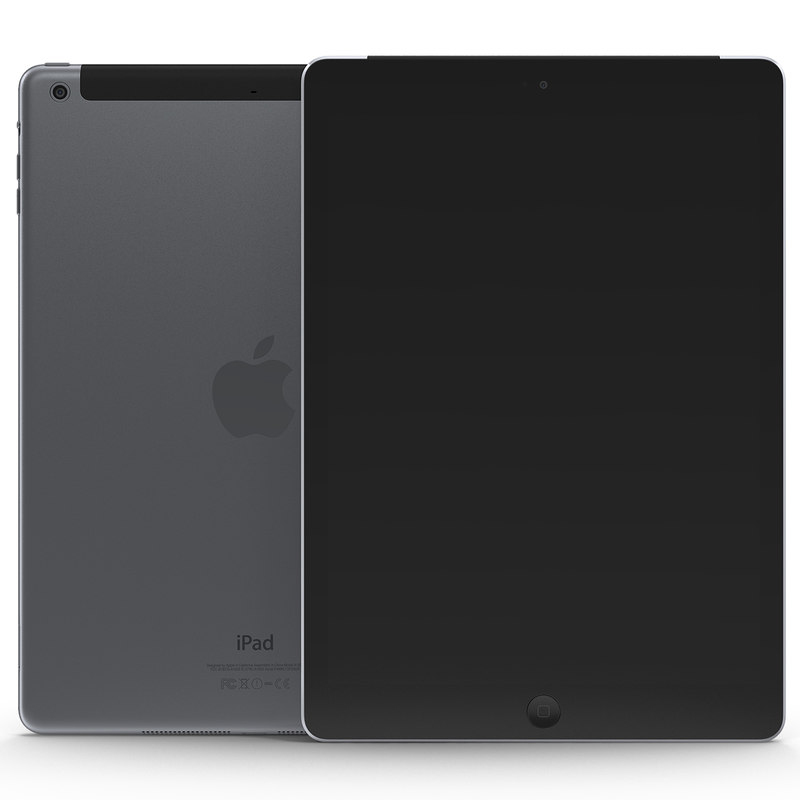 ipad air cellular space 3d model