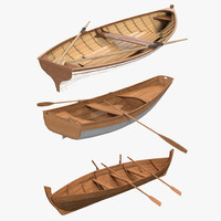 Rowing Boats 3D Models Collection