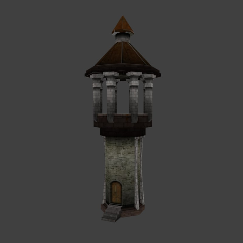 obj medieval watchtower