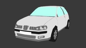 3d seat ibiza model