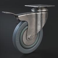 castor wheel 3d model