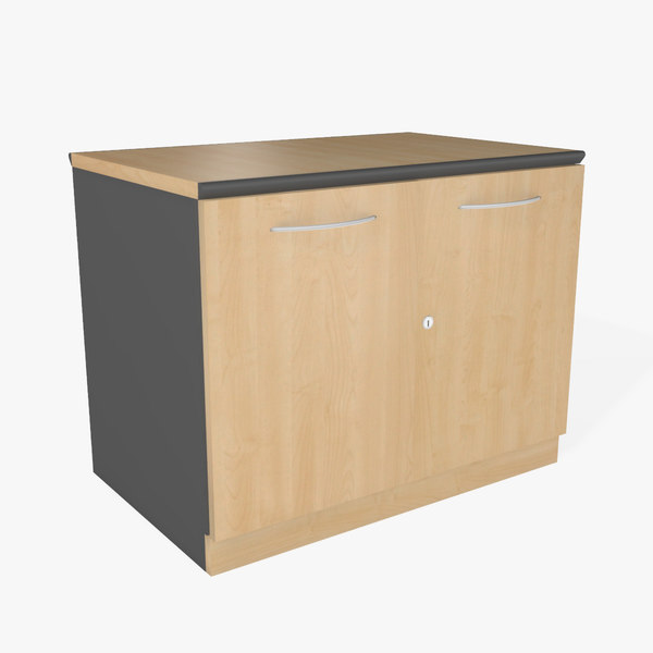 3d office cabinet model