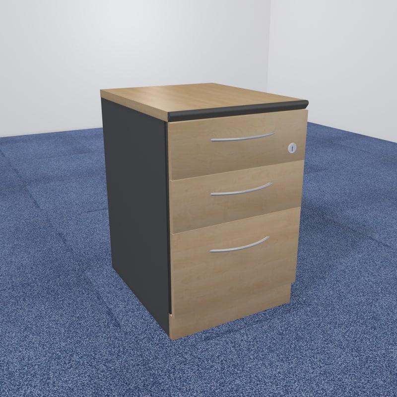 3d office pedestal