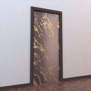 3d glass door