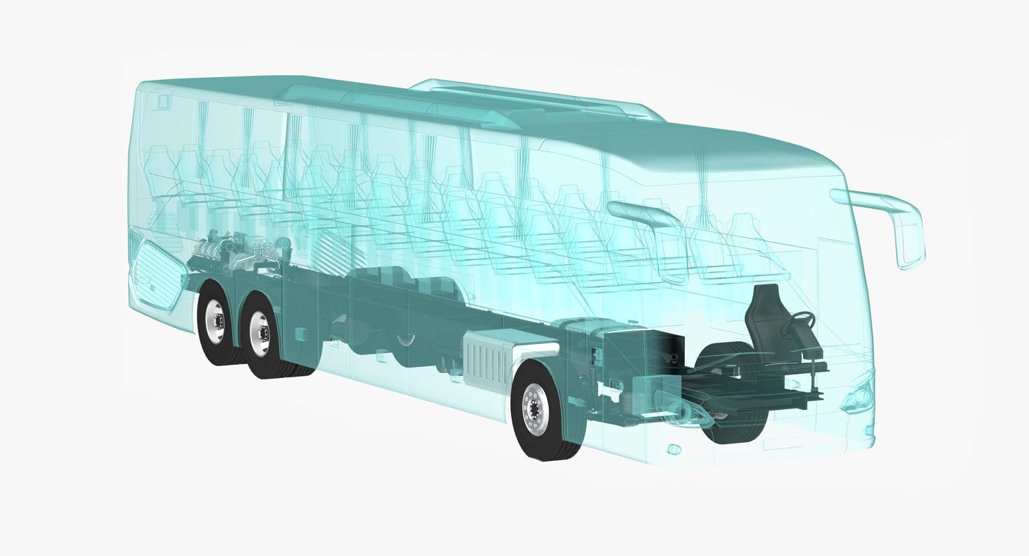 bus xray 3d model