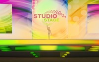 Studio stage with lighting