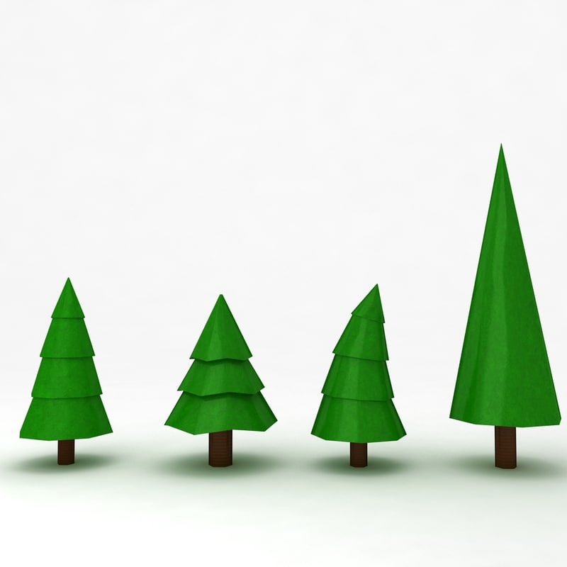 3dsmax cartoon christmas tree