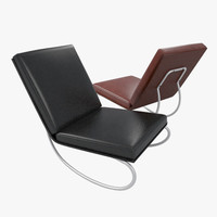free 3ds model easy leather chair