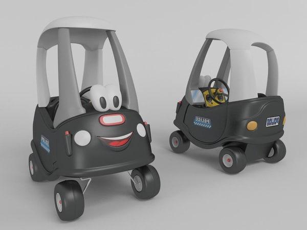 3d toy police car model