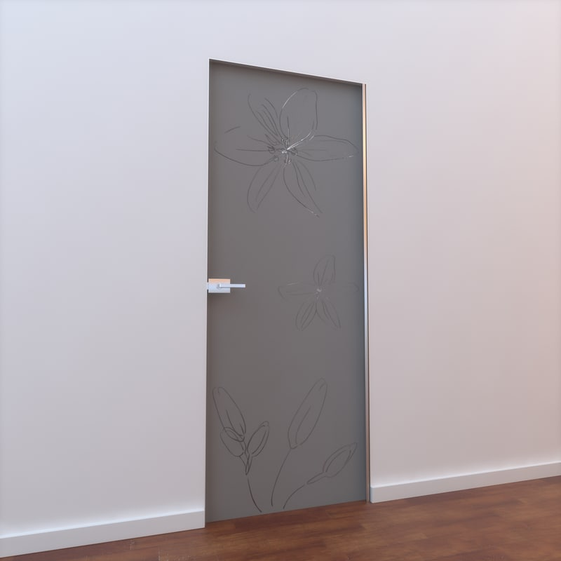 3ds max glass door