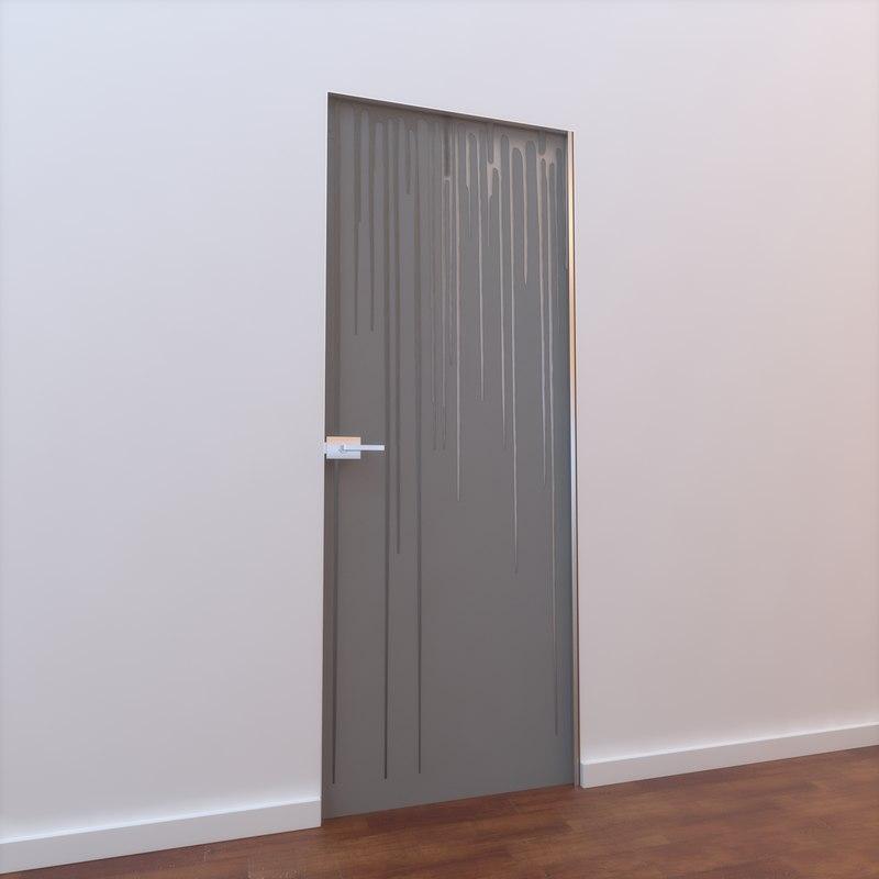 glass door 3d max