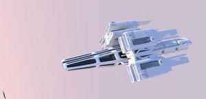 3d ship dropship model