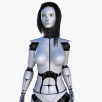 Female Robot V2 [Rigged]