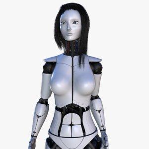 female robot v2 rigged 3d ma