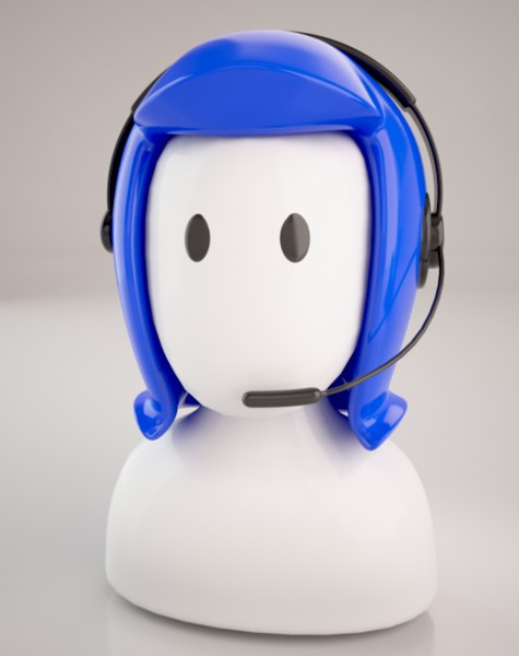 3d callcenter woman icon