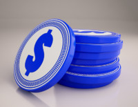 3d coins icon model