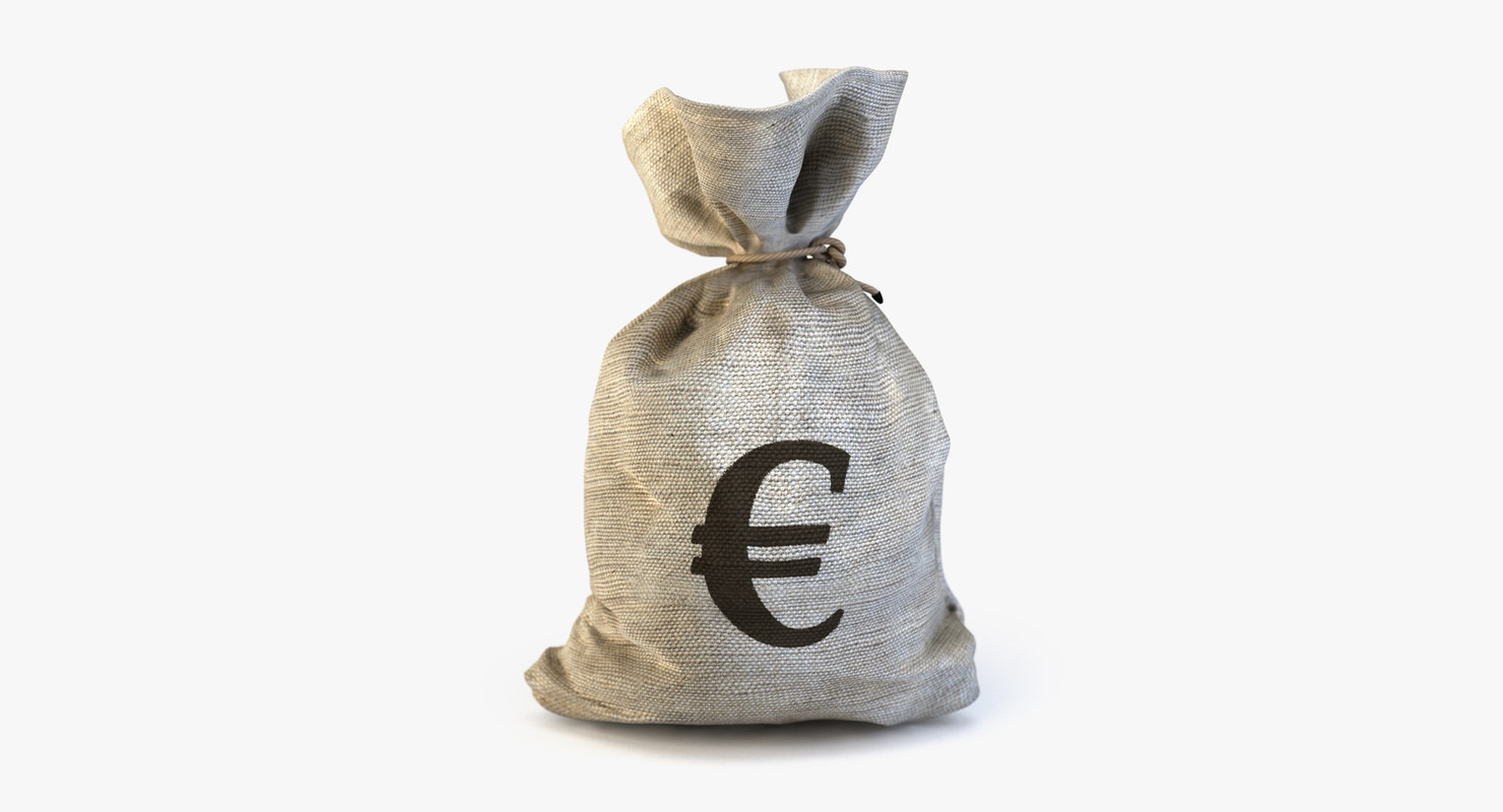 money bag euro 3d ma