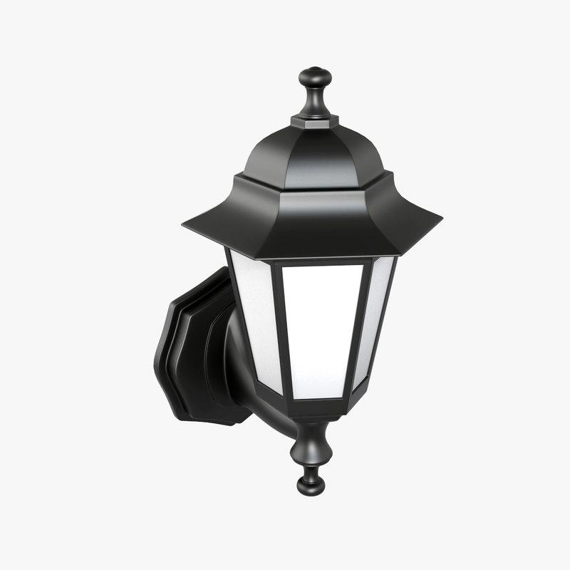 modeled wall lamp 03 3d max