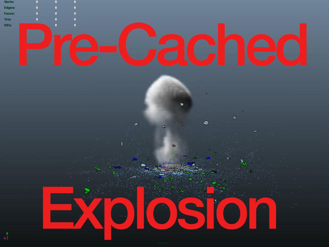 3d model ground explosion artillery