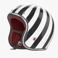 3d model motorcycles helmet ruby white-black