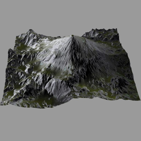 3d professional terrain heightmap model