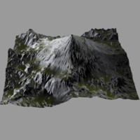 3d professional terrain heightmap model