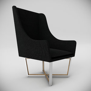 open privacy lounge chair 3d max