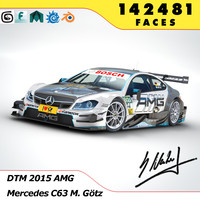 dtm 2015 mercedes benz 3ds